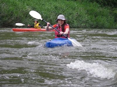 川の横断 フェリーグライドの練習