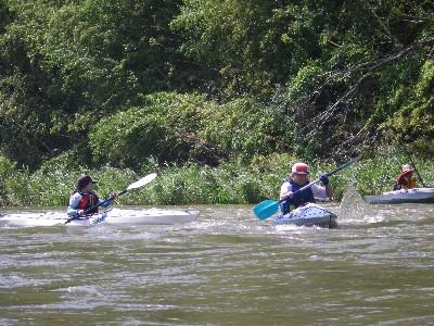 フェリーグライド(川の横断)の練習